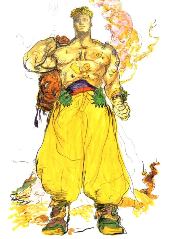 A Copyrighted Picture of Sabin from FF6